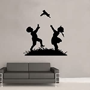 Banksy Playing Catch Decal Vinyl Wall Sticker