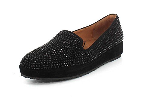 Lamour Des Pieds Womens Correze Slip On Black Suede/multi