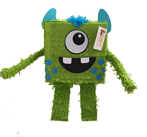 Friendly Monster Pinata Green Color by APINATA4U