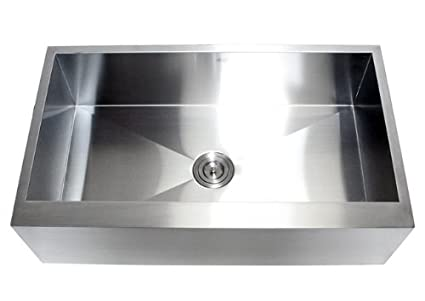 36 Inch Stainless Steel Single Bowl Flat Front Farmhouse Apron