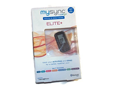 Mysync ELITE+ activity & sleep tracker by Wego 24/7 Bluetooth by mapmyfitness (Tracker Wego Activity)