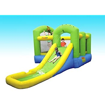 Bounceland Inflatable Bounce House Island Water Slide