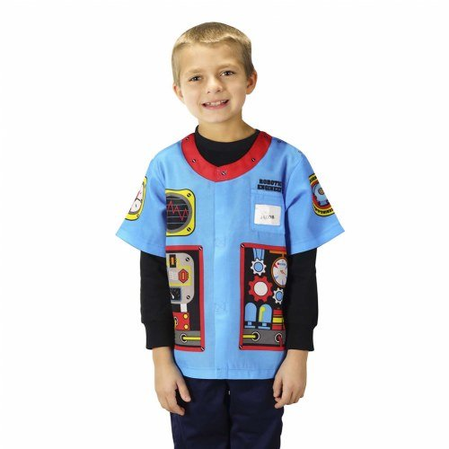 Robot Costumes Usa (Aeromax My 1st Career Gear Robotic Engineer, Easy to put on shirt fits most ages 3 to 6)