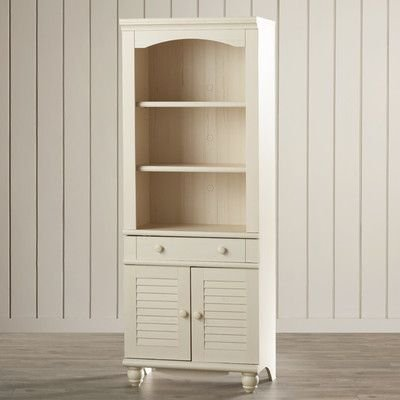 "Pinellas 72"" Standard Bookcase by Beachcrest Home, Cream/Antique White - Amazon.com: Pinellas 72"