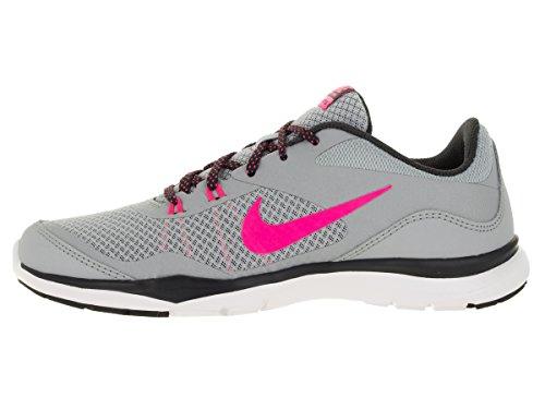 Nike Wmns Flex Trainer 5, Zapatillas de Gimnasia para Mujer Gris (Wolf Grey / Hyper Pink-Anthrct)