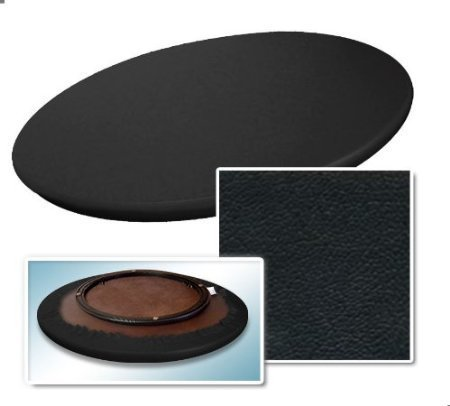 22u0026quot; Solid Wood Lazy Susan Turntable Caddy Covered A Black Colored  Vinyl