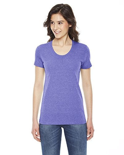 Orchid Tri (American Apparel Ladies' Triblend Short-Sleeve Track T-Shirt - TRI Orchid - M)