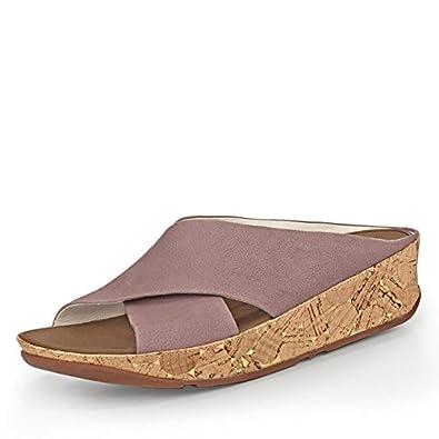 FitFlop Womens Kys Plum Nubuck Sandals 40 EU 791qAiJ