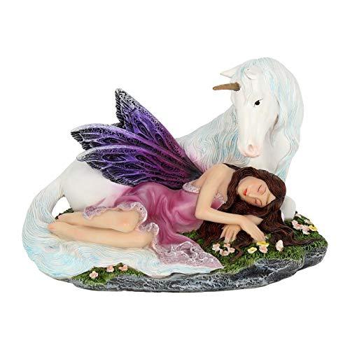 Nemesis Now - Alator Giftware - Euone Fairy Figurine - 16cm Fantasy Magic Unicorn Ornament