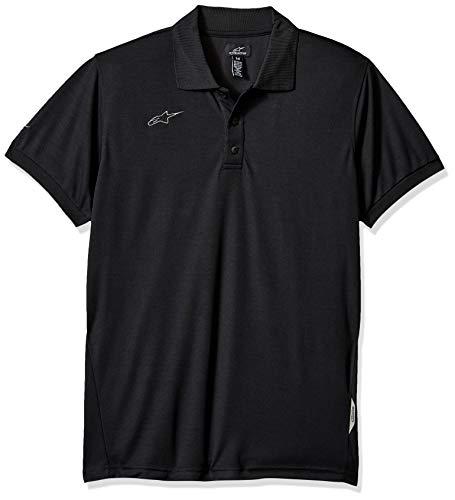 (Alpinestars Men's Short sleves Polo, piqué Fabric Classic fit, Vortex Shirt Black, L)