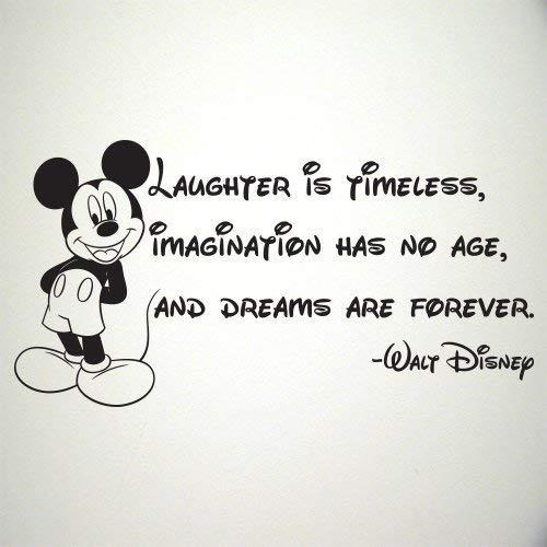 Amazon.com: Walt Disney Quote Mickey Mouse wall sticker ...