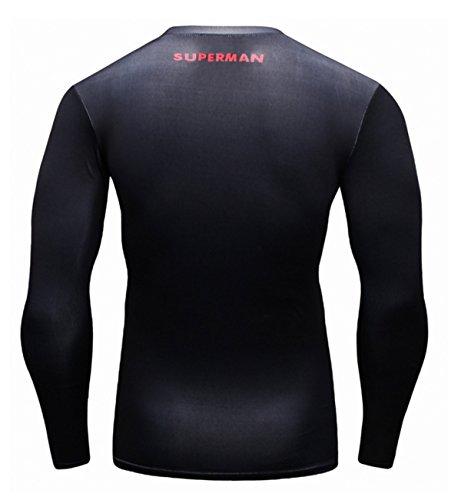 Manica Soprt In Custom Lundin Cody All'aperto T Esecuzione Escursionismo Lunga shirt Uomo Fitness Nero xvzR4Z