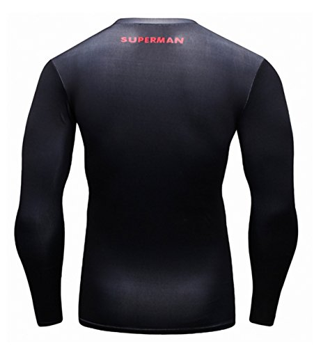 Lundin T Collant Longues Super shirt Homme D Sport Manches Héros Cody Chemise BAxwaA