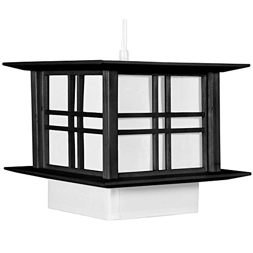 Oriental Furniture Akida Hanging Lamp - Black