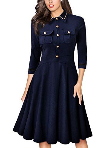 Missmay-Womens-Navy-Style-Retro-Elegant-23-Sleeve-Cocktail-Party-Swing-Dress