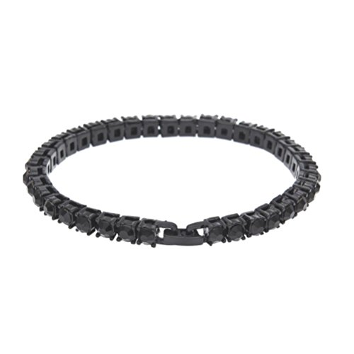 Crystal Series Mother Of Pearl (Hip Hop Bracelet,Hemlock Women Men Rhinestone Bracelet Chain Bling Crystal Bracelet (Black))