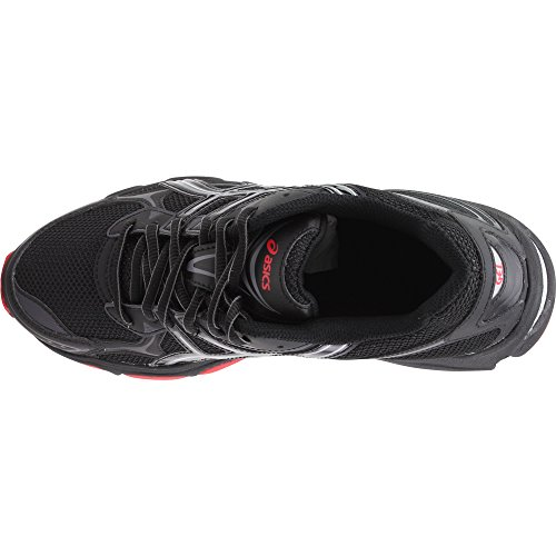 ASICS Black Stone Classic Red Shoe Men's Running GelVanisher Hr47H