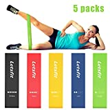 Letsfit Resistance Loop Bands, Resistance Exercise Bands for Home Fitness, Crossfit, Stretching, Strength Training, Physical Therapy, Natural Latex Workout Bands, Pilates Flexbands,12' x 2'