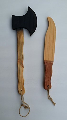Texas Toy Workshop Tomahawk and Bowie Knife Set