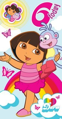 Amazon.com: Dora The Explorer - Age 6 Birthday Card & Badge - 6th ...