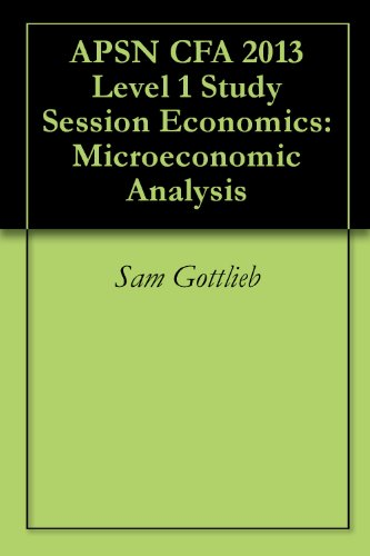 APSN CFA 2013 Level 1 Study Session Economics: Microeconomic Analysis