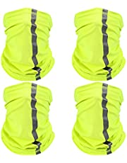 4 Pieces Neck Gaiter Visibility Reflective Safety Bandana Wind Dust Protection Scarf