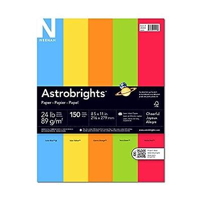 Neenah Astrobrights Premium Color Paper Assortment, 24 lb, 8.5 x 11 Inches, 150 Sheets