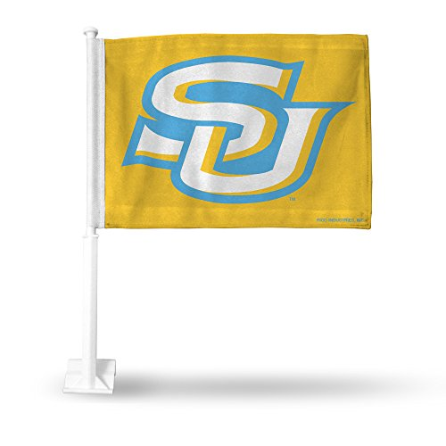 Rico NCAA Southern Jaguars Car Flag, Gold, with White Pole by Rico