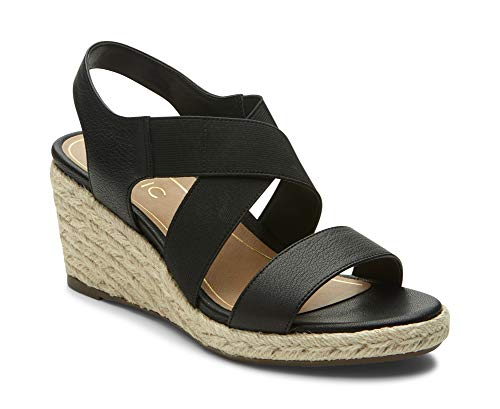 Vionic Women's Tulum Ainsleigh Backstrap Heels - Ladies Wedge Sandals with Concealed Orthotic Support - Black 11M
