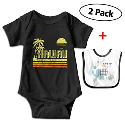 Vintage Hawaii Baby Short-Sleeve Bodysuits Rompers Outfits