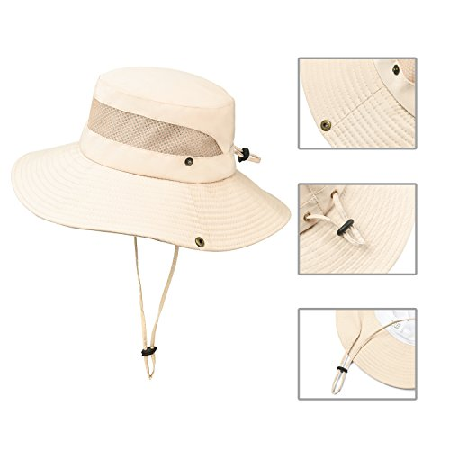 Jogoo Outdoor Boonie Sun Hat,Summer UPF 50 Protection Fishing Hat for Men& Women,Quick Drying and Breathable,Wide Brim Hat for Camping,Hiking and Boating.