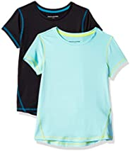 Amazon Essentials Girls' Active Performance Short-Sleeve T-Sh