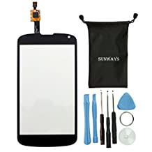 Sunways Phone Replacement Parts for LG Google Nexus 4 E960 Touch Digitizer Screen Glass With device opening tools (NO LCD)