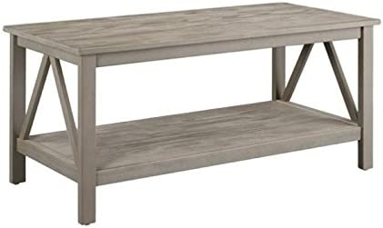 Amazon Com Atlin Designs Coffee Table In Rustic Gray Kitchen