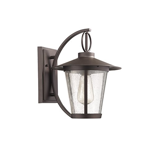 Chloe Lighting CH822046RB12-OD1 Transitional 1 Light Rubbed Bronze Outdoor Wall Sconce 12″ Height For Sale