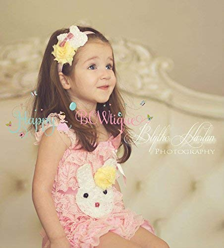 ac400238887 Image Unavailable. Image not available for. Color  3pcs Easter Pink  Lemonade Bunny Romper Set