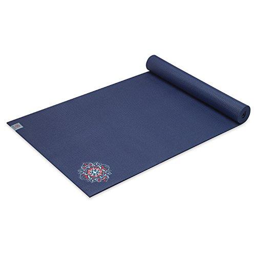 Gaiam Yoga Mat Premium Embroidered Extra Thick Exercise & Fi