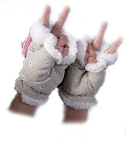 Laptop Gloves Winter Fingerless USB Handwarmers USB Heated Half Finger Women Hand Warmer Gloves Christmas Gift - Wired by COJOY (Image #3)