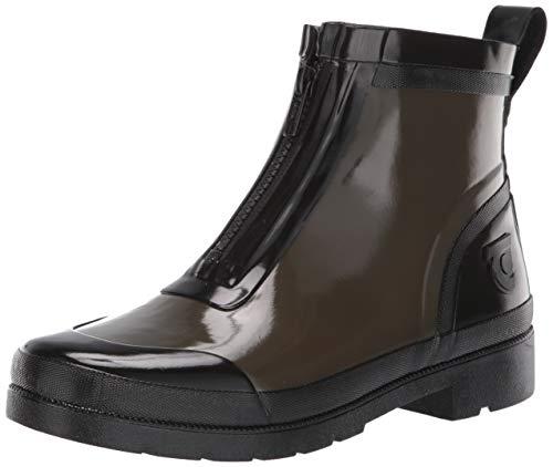 Tretorn Women's LINAZIPWNT Rain Boot, Dark Green, 9 M US