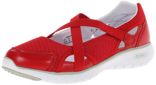 Propet Women's Travellite MJ Walking Shoe, Red, 8.5 M US