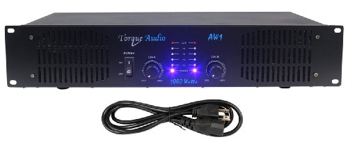 Torque Audio by Technical Pro AW1 1000 Watt 2-Channel DJ or Live Sound Rack Mount Power Amplifier
