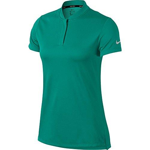 NIKE Dri Fit Shortsleeve Blade Collar Golf Polo 2018 Women Neptune Green/Flat Silver Large