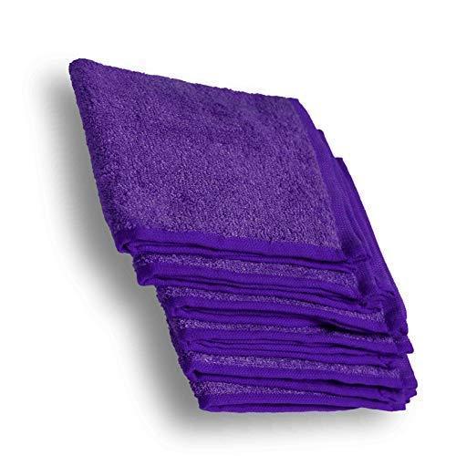 Kidicomfort Bamboo Washcloths Purple 6 Pack 10x10 inches Super Soft Baby washcloths Organic Materials for Sensitive Newborns