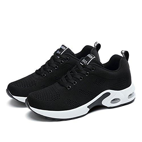 35 modle Rose Slim Sneakers Taille 2 Pour 42 Rouge Running Uk2 uk8 Chaussures 5 Choisie 4cm Violet Blanc De Sport Lacets Femmes 1 Air Noir HTFTfqAw