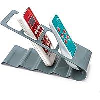 WINOMO Remote Control Organizer Metal TV Air Conditioner Remote Control Storage Holder (Grey)