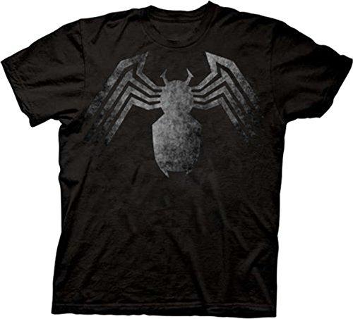 Spider-man Venom Spider Legs Faded Black T-shirt Tee