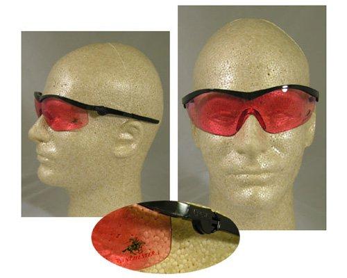 Winchester® Safety Glasses - cr win1v blk/verm -