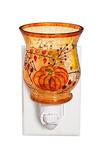 Cypress Home Harvest Pumpkin Glass Nightlight, Set of 2