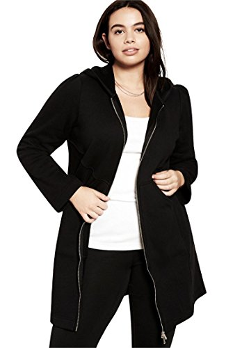 Roamans Women's Plus Size Fleece Jacket (Black Empire Jacket)