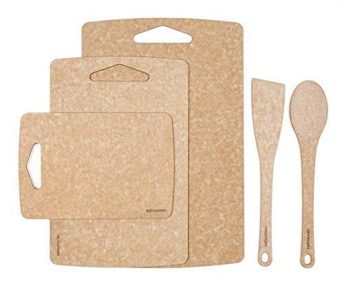 에피큐리언 도마 3피스/4피스/5피스 세트 Prep Series 5-Piece Set by Epicurean: 3pc Prep boards and 2pc Utensil Set